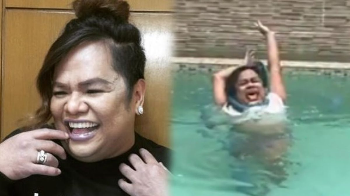 Chokoleit Video While Playing In Pokwang's Swimming Pool Will Surely Make you Laugh!!