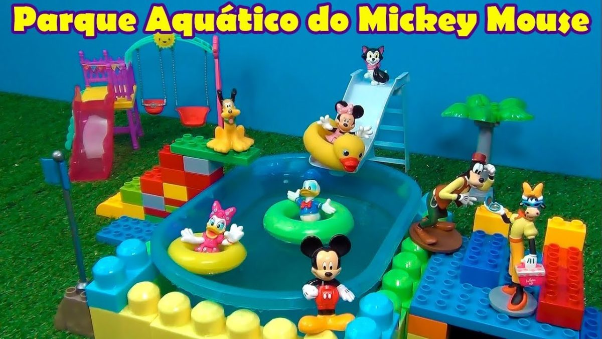 MICKEY MOUSE PISCINA PARQUE AQUÁTICO – MICKEY MOUSE SWIMMING POOL #MICKEYMOUSE  #DISNEYTOYS