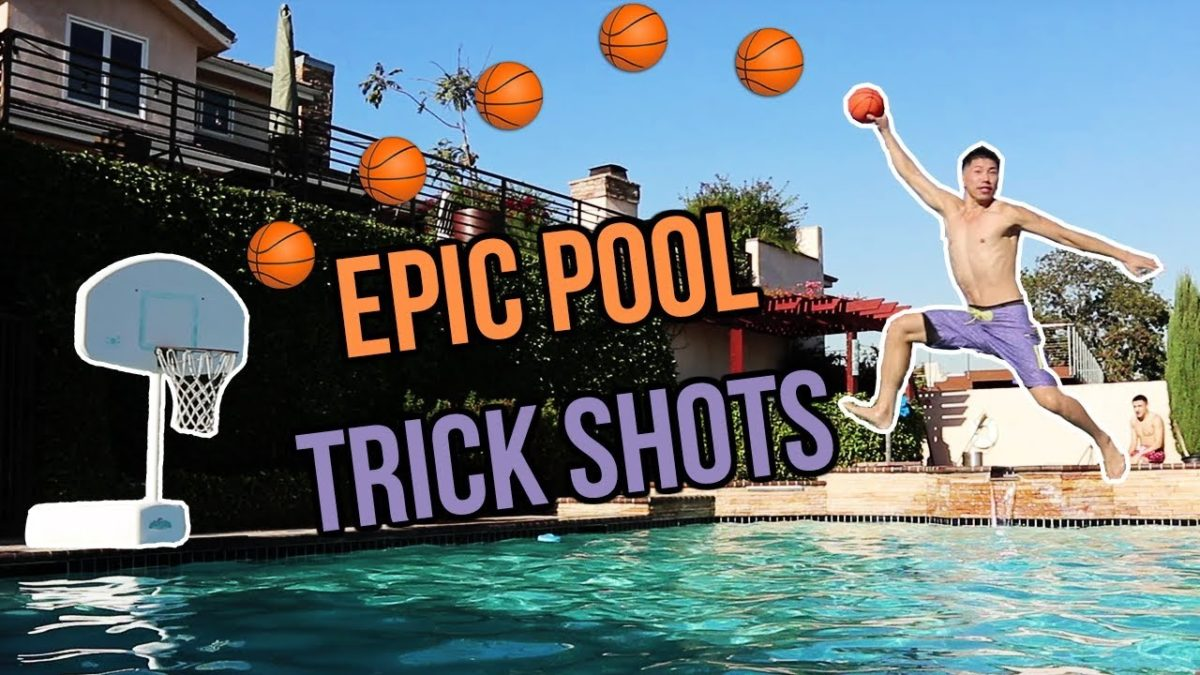 EPIC SWIMMING POOL TRICK SHOTS!! EMBARRASSING PUNISHMENT!