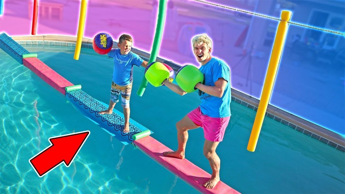 SWIMMING POOL BRIDGE CHALLENGE & EPIC DRITBIKE RACE!