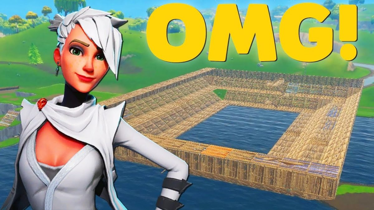 Building AN OLYMPIC SWIMMING POOL In Fortnite Battle Royale!