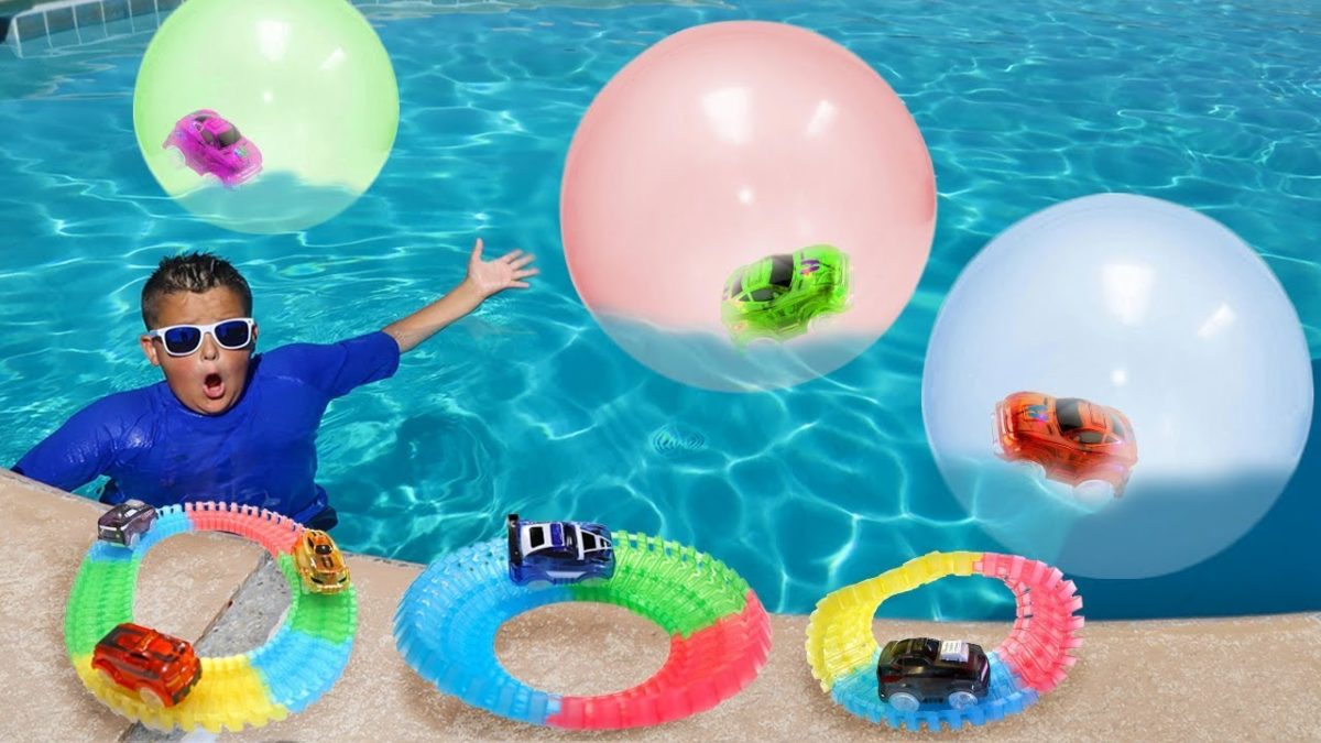 Magic Tracks Inside Super Wubble Bubbles Swimming Pool Adventure!